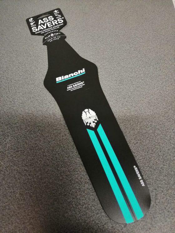 Fahrrad Schutzblech Bianchi schwarz celeste